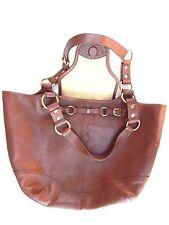 Kate Landry Dark Brown Genuine Leather Tote & Shopper Travel Large Handbag Purse