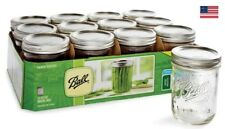 BALL Mason Wide Mouth Pint Jars With Lids and Bands 16 Oz Set of 12