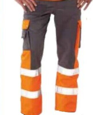 Litz Arbeitshose Bundhose Signal 09 4985090 Orange/grau Gr 42 Neu Durable Modeling Business & Industrie