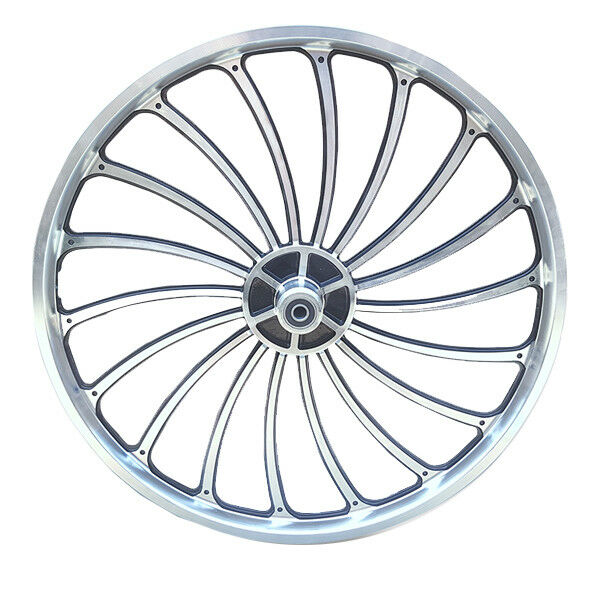 20 X 1.75 2.125 2.5'' Aluminum Bicycle Front or Rear Wheel eBike Chopper Kit