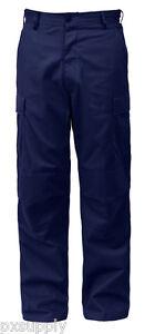 Militar-de-carga-fatiga-Bdu-Estilo-Pantalones-De-Medianoche-Azul-Cierre-De-Cremallera-Rothco-5775