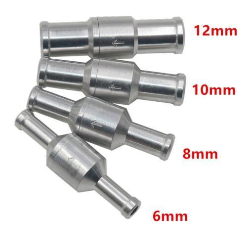 Aluminiumlegierung Kraftstoff Rückschlag-One Way Benzin Diesel 6//8//10 12mm