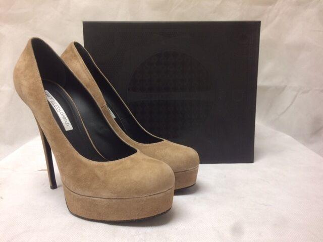 Descuento de liquidación Gianmarco Lorenzi Beige Suede High Heels. A5D0E1522. Various Sizes.  355.