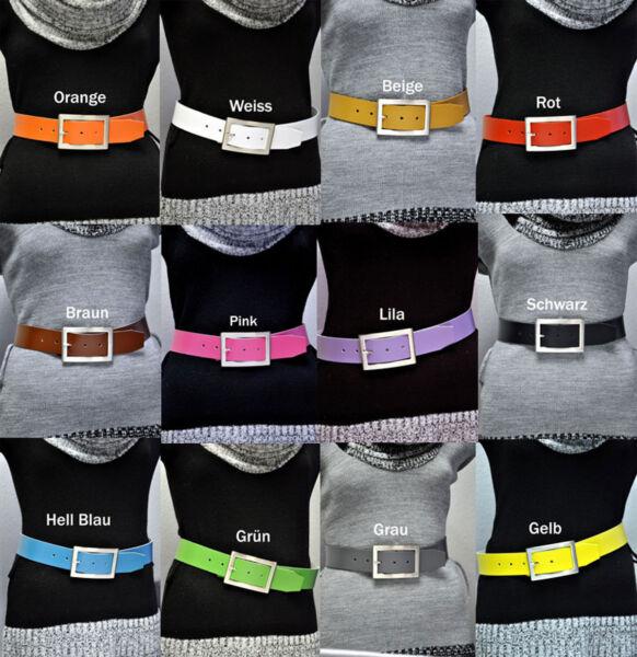 100% Pelle Cintura 4cm Largo Lunghezza E Colore A Scelta