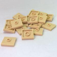 Lego 5 Novo Dark Azure Placas modificado Groove 2 X 2 E 1 Jumper Stud No Centro