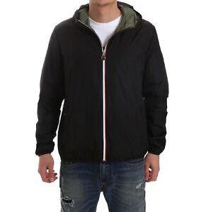 Giubbotto INVICTA da uomo nero modello estivo giacca con full zip e cappucc