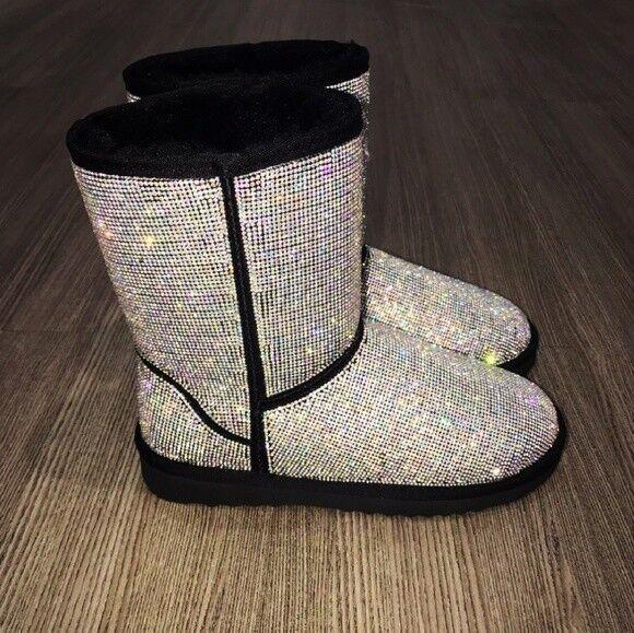 SARAH SIAHFully Sparkling Swarovski Rhinestones Embellished Boot Boot Boot 0c001f