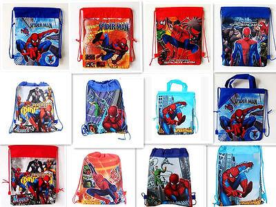 Boy School Bag Spider Man Environmental Drawstring Swimming PE Toy Pop Backpack