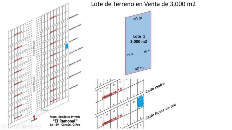 Terrenos Ecológicos en Venta desde 2,250 m2, Fracc. El Ramonal, Carretera Cancún-Mérida, Cancún