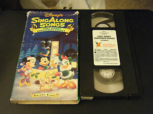 Disneys Sing Along Songs - Very Merry Christmas Songs (VHS, 2000) 786936142082 | eBay