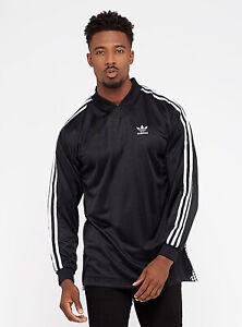 Details about adidas Men's B Side Back Gingham Long Sleeve Soccer Jersey, Black