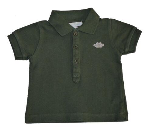 Marie Chantal Baby Boys Dark Olive Short Sleeved Polo Shirt Various Sizes