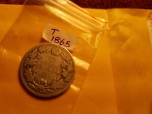 1902-H-Canada-25-Cents-Twenty-Five-Cents-Rare-Silver-Coin-ID-T1865