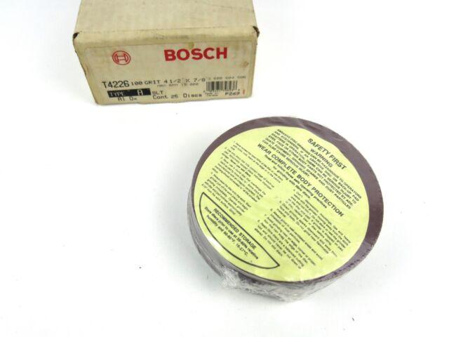 "25 BOSCH T4226 4 1//2/"" x 7//8/"" Sanding Discs 100 Grit NEW Slotted Al Oxide Type A"