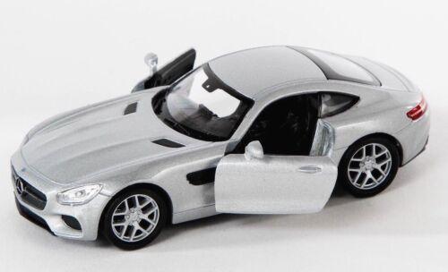 Spedizione LAMPO MERCEDES AMG GT Argento//Silver Welly Modello Auto 1:34 NUOVO /& OVP