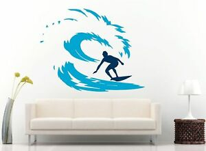 Surfing-Surfer-Surfboard-Surf-Multi-Color-Removable-Wall-Vinyl-Decal-Sticker