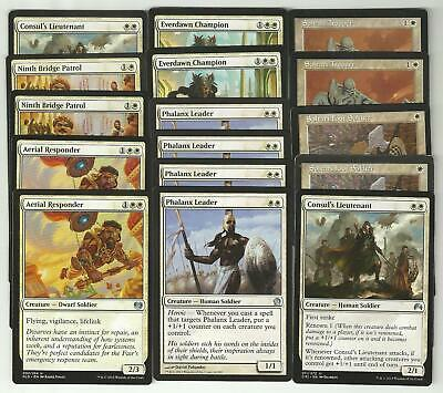 ***Custom White Casual Deck*** Knights /& Soldiers MINT Mtg Rare Magic Cards