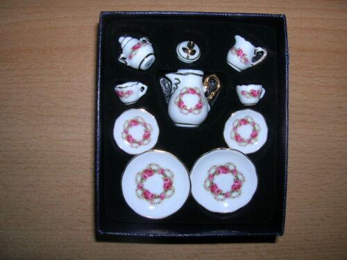 1.338//2 Reutter Porzellan caffè servizio barocco rose nastro bambole Tube 1:12 art