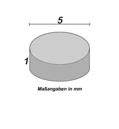 10 imanes neodimio 5 x 1 mm redondo nuevo