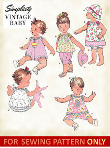 Sewing Pattern Make Vintage Style Baby Romper Dress