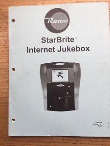 Details about ROWE STARBRITE INTERNET JUKEBOX MANUAL W/ NETWORK SETUP MANUAL