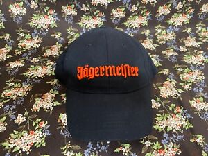 Jagermeister Black Strap Back Baseball Cap. Embroidered Dad Hat. New Without Tag