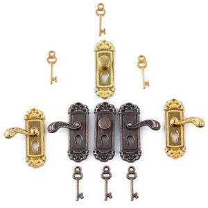 1-12-Scale-Dollhouse-Miniature-Furniture-Vintage-Door-Lock-Set-Toys