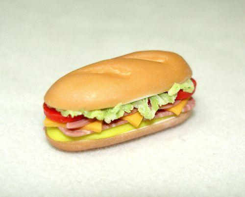 Dollhouse Lola Originals Submarine Hoagie Hero Sandwich 1:12 Artisan Miniatures