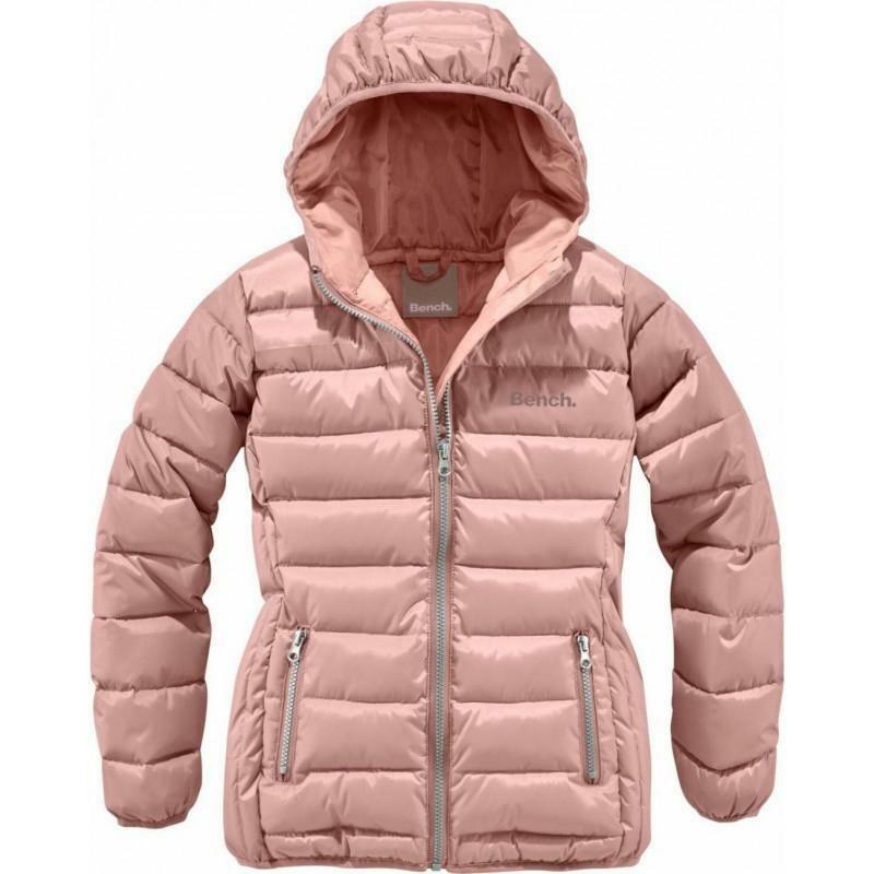 BENCH Damen Mädchen Jacke Kapuze Steppjacke warme