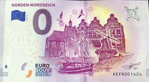 BILLET-0-EURO-NORDEN-NORDDEICH-ALLEMAGNE-2019-2-NUMERO-DIVERS