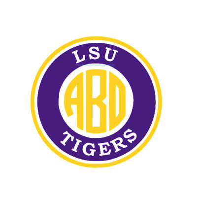 Louisiana State University LSU Monogram Decal for YetiLSU Sticker for Car