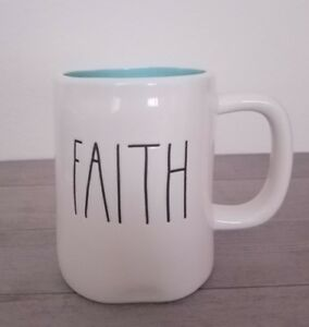 BRAND-NEW-RAE-DUNN-by-Magenta-FAITH-Coffee-Tea-Mug-Farmhouse-Spring-Home-Decor