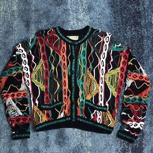 COOGI-Australia-Multicolor-Pullover-Herren-Gr-MEDIUM-VINTAGE-Biggie-Bill-Cosby-bunt