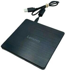 Lenovo Slim DB65 External DVD Drive, Black - TESTED w/ WARRANTY!!