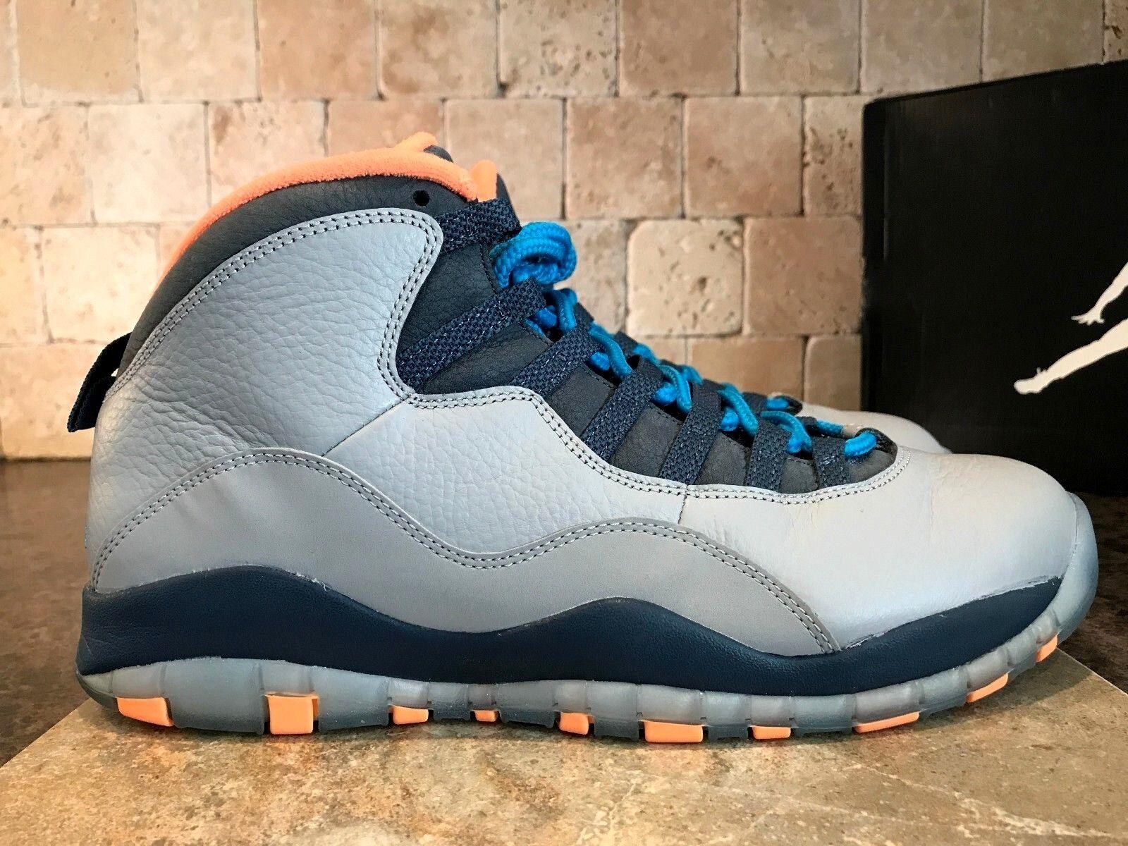 JORDAN 10 Retro BOBCATS para hombres zapatos gris Lobo 2013