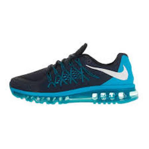 Mens Nike Air Max 2015 Shoes Size 9 Dark Obsidian White Blue 698902 402