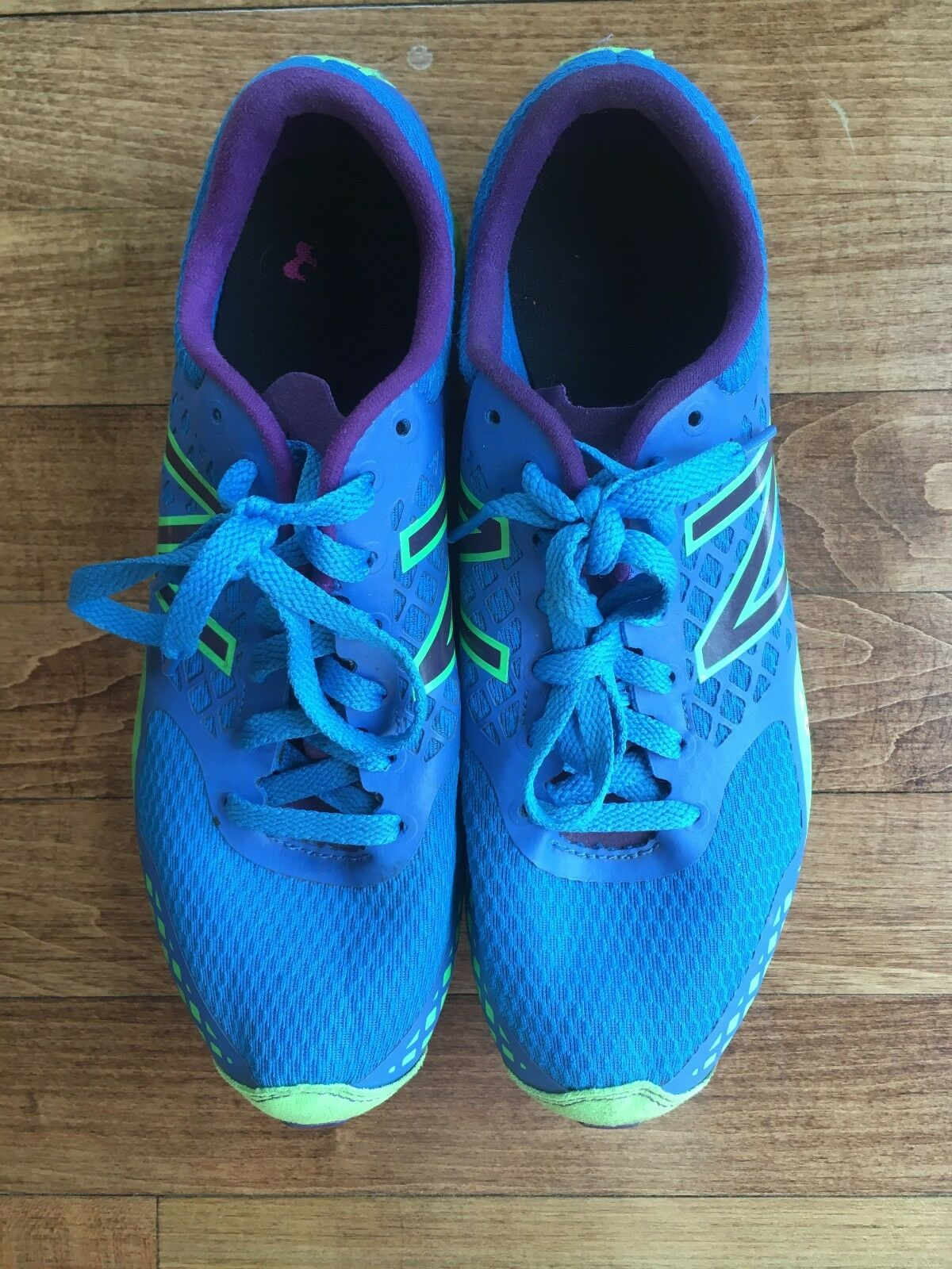 Women's New Balance XC 900 Cross Country Spikes Size 8 Blue and Green