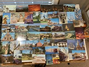 Lot Of 100 Vintage Post Cards Assorted From Around The World. Lot B