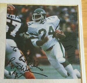 Reggie Williams Autographed 7X7 Program Picture Cincinnati Bengals LB Auto Dartm
