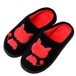 025b025414c9 Women Winter Warm Home Slipper Ladies Cute Cartoon Cat Coral Velvet ...