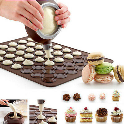 Macaron Baking Decorating Pen Pastry Cream Cake Muffin Set Kit Silicone 3 Nozzle