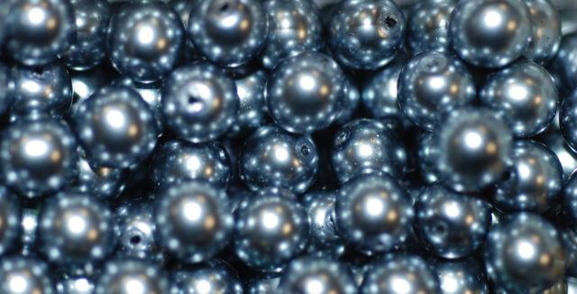 Kristallglasperlen mit Perlenschimmer in tollen Faben 8mm Packung á 20 Perlen