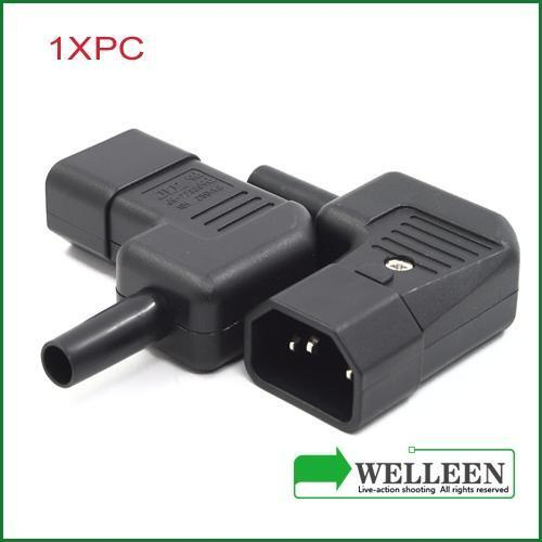 IEC 320 C14 right angle rewirable connector,​C14 plug UL approval​