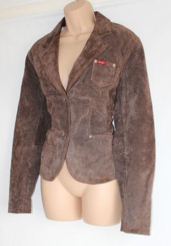 Femme L Cuir 100 H Manteau Pour i En Vintage Veste Jeans Taille s Brun Blazer wX6Ap1q