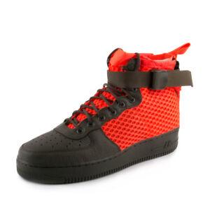 NIKE Mens SF AF1 Mid QS Cargo Khaki/Crimson Leather