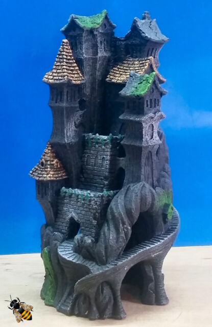 aquarium ornament castle haunted towers tall fish tank decoration ebay