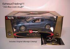 bBurago Burago 1998 Maserati 3200 GT Coupe 3.2l V8 Blue w/Tan 3371 1/18 MINT!