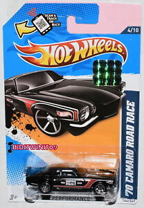 HOT-WHEELS-2012-HW-PERFORMANCE-039-70-CAMARO-ROAD-RACE-BLACK-FACTORY-SEALED