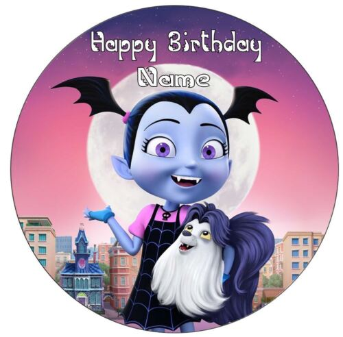 Vampirina Inspired Personalised Edible Cake Topper and//or Ribbon Icing or Wafer
