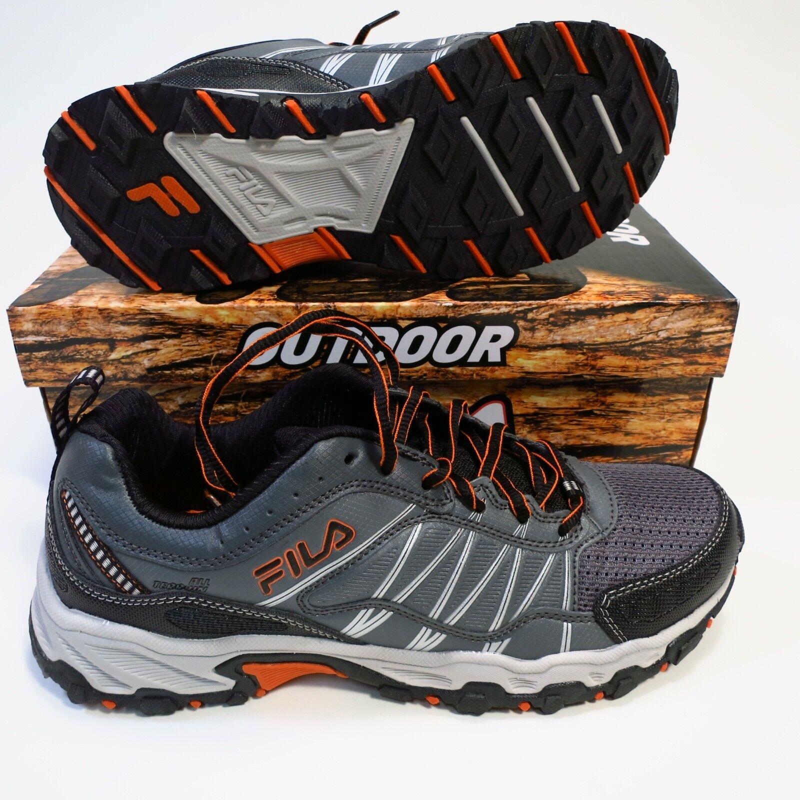 70 Men's FILA AT Peake 18 Tral shoes Grey orange Size 9.5 NEW